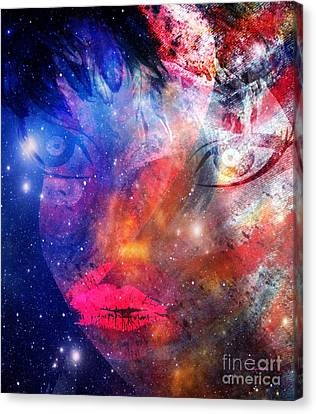 Between Me - Passion And Time Canvas Print by Fania Simon