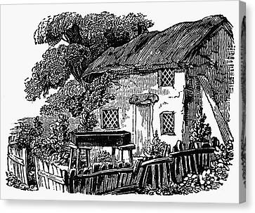 Bewick: Rural House Canvas Print by Granger