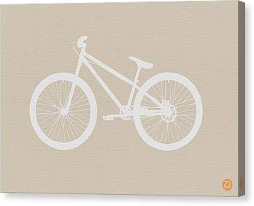 Bicycle Brown Poster Canvas Print by Naxart Studio