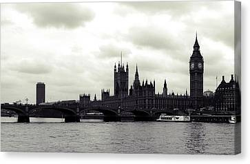 Big Ben And Houses Of Parliament Canvas Print by Sharon Lisa Clarke