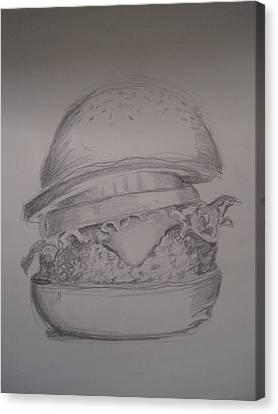 Big Burger Canvas Print by Laurie Dellaccio