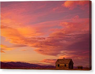 Big Colorful Colorado Sky And Little House On The Prairie Canvas Print by James BO  Insogna