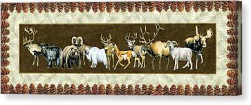 Big Game Lodge Canvas Print by JQ Licensing