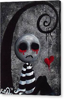 Big Juicy Tears Of Blood And Pain 2 Canvas Print by Oddball Art Co by Lizzy Love