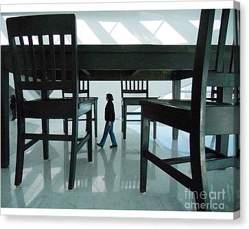 Big Table And Chairs Canvas Print by Jim Wright