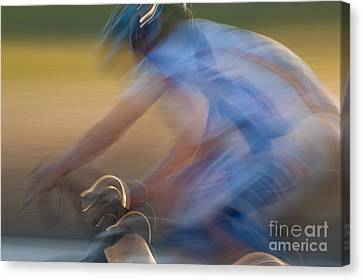 Bike Race 2 Canvas Print by Catherine Lau