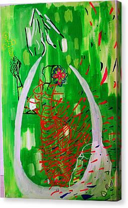 Bikira Maria - Rosa Mystica Canvas Print by Gloria Ssali