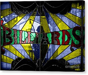 Billiards Canvas Print by Mitch Shindelbower
