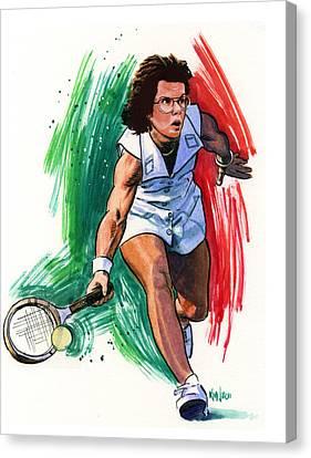 Billie Jean King Canvas Print by Ken Meyer jr