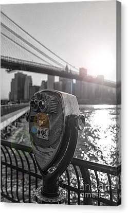 Binoculars Nyc View Canvas Print by AHcreatrix