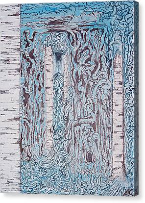 Birch N Blue Canvas Print by Ben Christianson