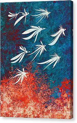 Birdeeze -v04 Canvas Print by Variance Collections