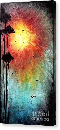 Birds Of The Sun Canvas Print by Mike Grubb