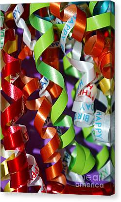 Birthday Ribbon Canvas Print by Lynda Dawson-Youngclaus
