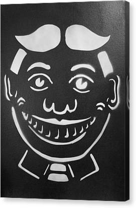 Black And White Tillie Canvas Print by Patricia Arroyo