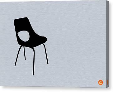 Black Chair Canvas Print by Naxart Studio
