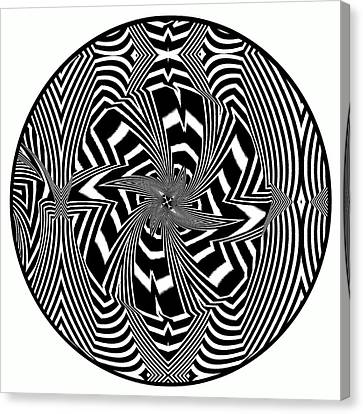 Black Flower Canvas Print by Visual Artist  Frank Bonilla