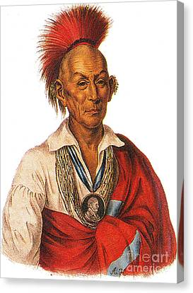 Black Hawk, Leader Of The Sauk American Canvas Print by Photo Researchers