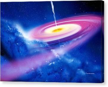 Black Hole Canvas Print by Detlev Van Ravenswaay