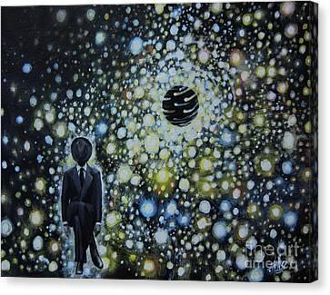 Black Hole Man Canvas Print by Shelly Leitheiser