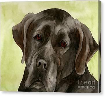 Black Labrador Canvas Print by Cherilynn Wood