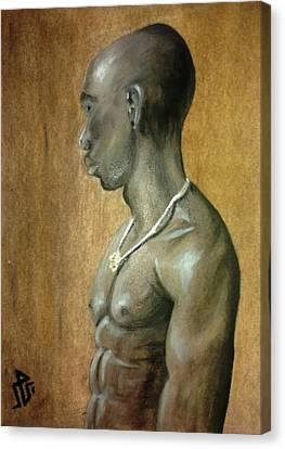 Black Man Canvas Print by Baraa Absi