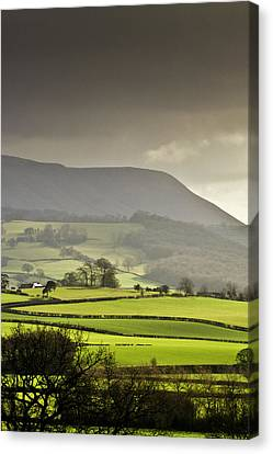 Black Mountains Canvas Print by Ginny Battson