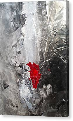 Black N White N Red All Over I Canvas Print by Danita Cole