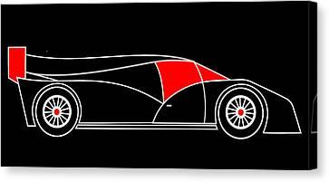 Black Rocket Racing Car Virtual Car Canvas Print by Asbjorn Lonvig