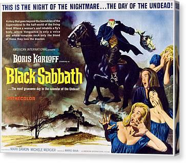 Black Sabbath, Aka I Tre Volti Della Canvas Print by Everett