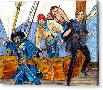 Blackbeard And Flynn Canvas Print by Phil Strang