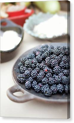 Blackberries Canvas Print by AE Pictures Inc.