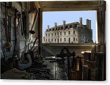 Blacksmith Shed Canvas Print by Peter Chilelli