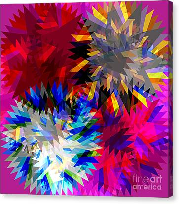 Blade In Pink Canvas Print by Atiketta Sangasaeng