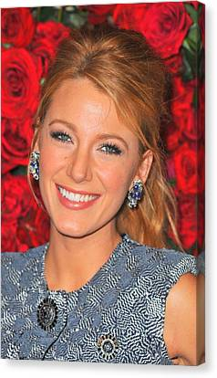 Blake Lively At Arrivals For Momas 4th Canvas Print by Everett