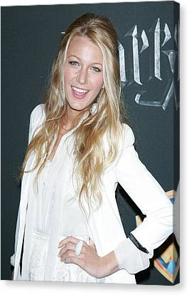 Blake Lively Wearing A Dolce & Gabbana Canvas Print by Everett