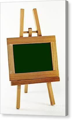 Blank Chalkboard In Wood Frame Canvas Print by Blink Images