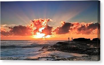 Blessed Fishermen Canvas Print by Mark Lucey