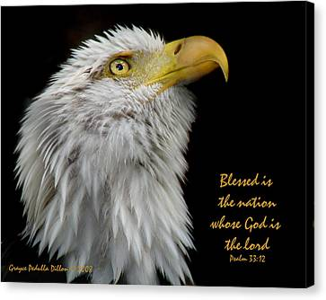 Blessed Is The Nation Canvas Print by Grace Dillon
