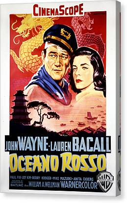 Blood Alley, John Wayne, Lauren Bacall Canvas Print by Everett