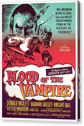 Blood Of The Vampire, Donald Wolfit Canvas Print by Everett