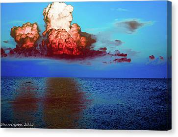 Blood Red Clouds Canvas Print by Shannon Harrington