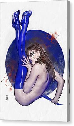 Bloody Girl 2 Canvas Print by Marco Turini