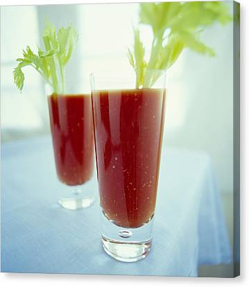 Bloody Mary Cocktails Canvas Print by David Munns
