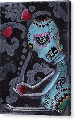 Blue Canvas Print by  Abril Andrade Griffith