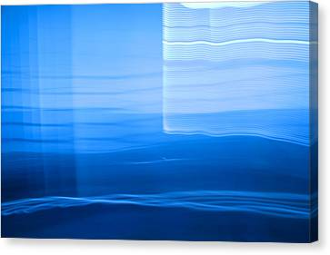 Blue Abstract 1 Canvas Print by Mark Weaver