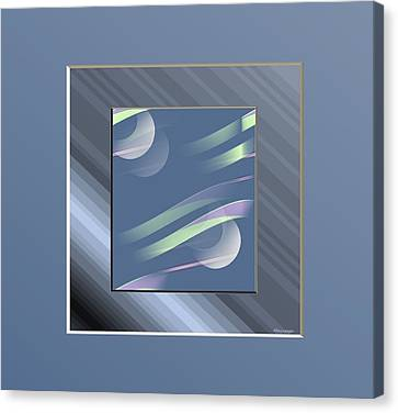 Blue  And Stripes Canvas Print by Ines Garay-Colomba