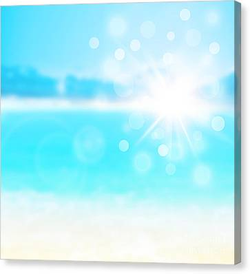 Blue Blur Natural Abstract Background  Canvas Print by Anna Omelchenko