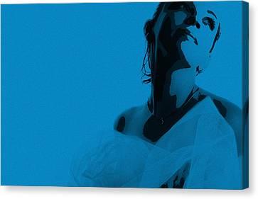 Blue Bride Canvas Print by Naxart Studio