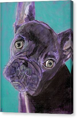 Blue Brownie Canvas Print by Arthur Rice